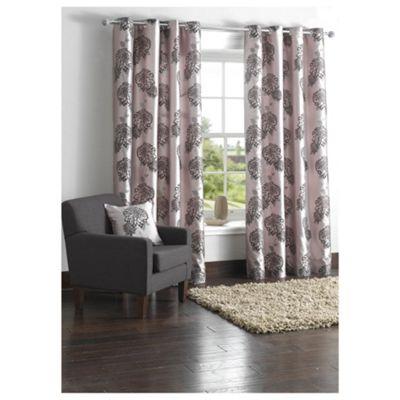 Tesco Amelia Flock Lined Eyelet Curtains W163xL183cm (64x72