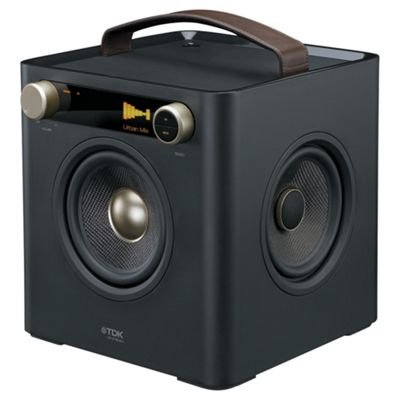 TDK T78530 Sound Cube, Black ETP67101BLK for iPod and iPhone
