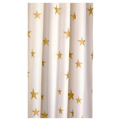 Croydex Gold Star Textile Shower Curtain