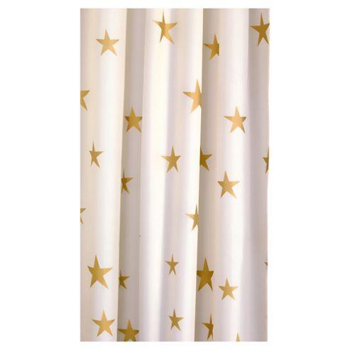 Croydex Gold Star Textile Shower Curtain