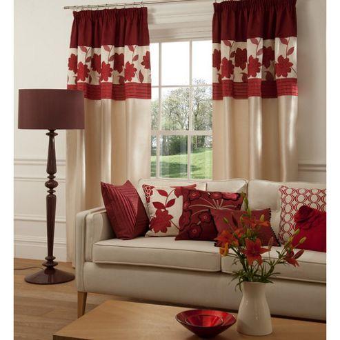 Catherine Lansfield Clarissa Lined Pencil Pleat Curtains W229xL229cm (90x90