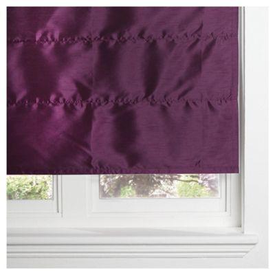 Faux Silk Lined Roman Blind 60x120cm Plum