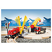 Brio Road and Rail Crane Set Wooden Toy