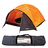 4 Man Super Dome Tent 135 x 260 x 210cm - carry bag - Milestone