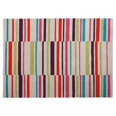 Tesco Rugs Multicolour Stripe Rug 120X170Cm