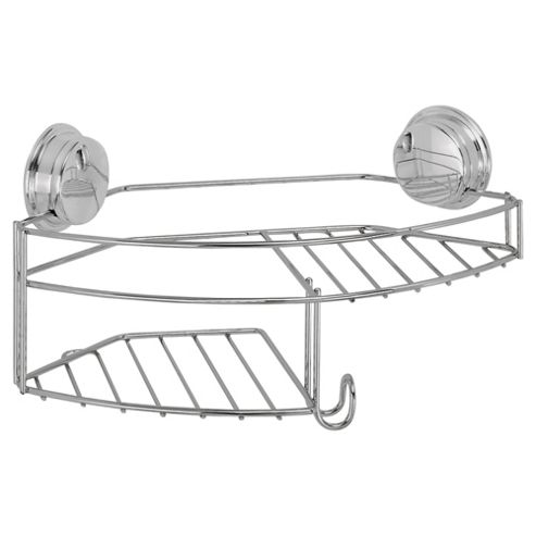 Croydex Stick 'n' Lock Plus Combination Storage Basket