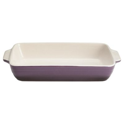 Mason Cash Elite Fusion 30cm Rectangular Roaster, Purple