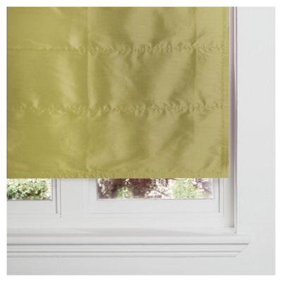 Faux Silk Lined Roman Blind 120x120cm Green