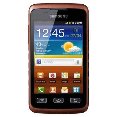 Tesco Mobile Galaxy X Black and Orange