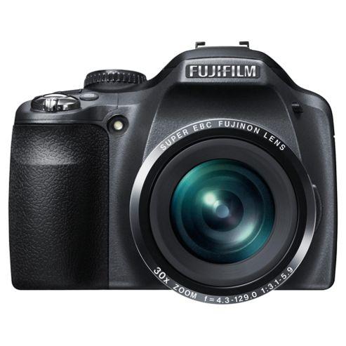 Fuji FinePix SL300 Digital Bridge Camera, Black, 14MP, 30x Optical Zoom, 3