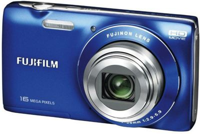 Fuji JZ200 Digital Camera, Blue, 16MP, 8x Optical Zoom, 2.7 inch LCD Screen