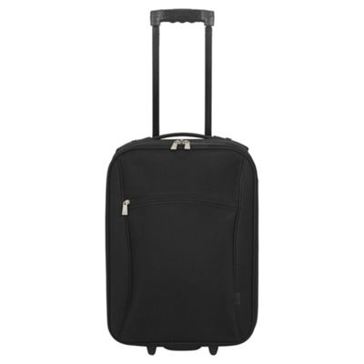 Tesco London 2 Wheel Black Cabin Suitcase