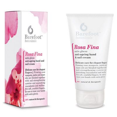 Barefoot Rosa Fina Satin Gloves Anti-Ageing Hand & Nail Cream 50ml