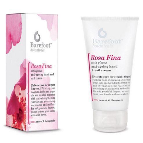 Barefoot Rosa Fina Satin Gloves Anti-Ageing Hand & Nail Cream 50ml