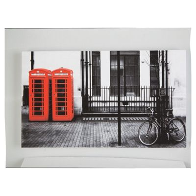 Red Telephone Box Canvas 60x35cm