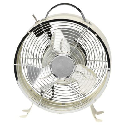 Aura Retro Desk Fan Cream