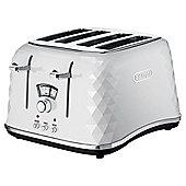 DeLonghi Brillante CTJ4003.W Designer 4 Slice Toaster- White
