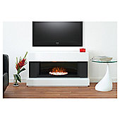 Adam Verona White & Grey Electric Fireplace Suite