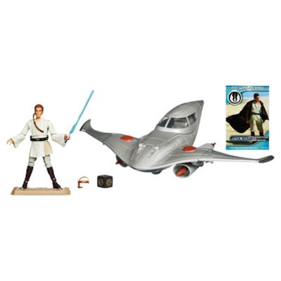 Star Wars Naboo Royal Fighter With Obi Wan