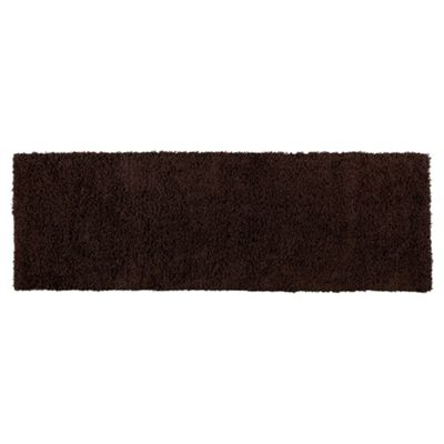 Tesco Rugs Alpine Shaggy Runner Choc 66X200Cm