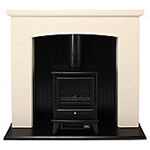 Adam Derwent with electric stove Electric suite