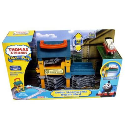 Take Play Sodor Steamworks Repair Shed