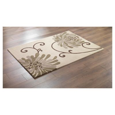 Tesco Rugs Chrysanthemum Rug Natural 120X170Cm