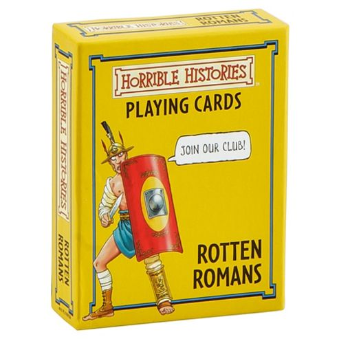 Horrible Histories Rotten Romans Playing Cards Game