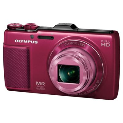 Olympus SH25 Digital Camera, Red, 16MP, 12.5x Optical Zoom, 3.0 inch LCD Screen