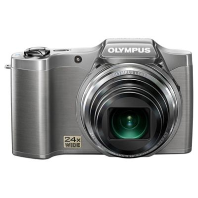 Olympus SZ-14 Digital Camera, Silver, 14MP, 24x Optical Zoom, 3