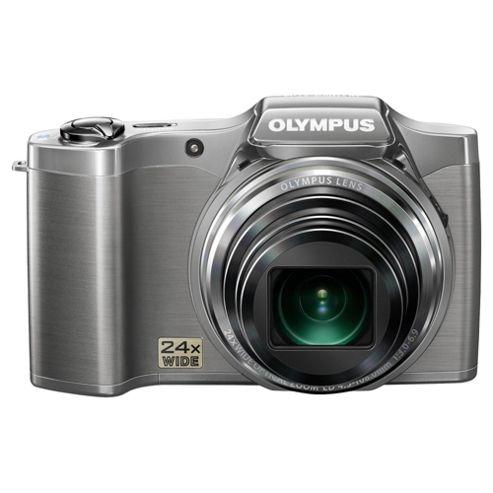 Olympus SZ-14 Digital Camera, Silver, 14MP, 24x Optical Zoom, 3