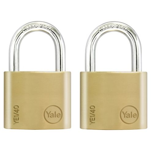 Yale 40mm Brass Padlock PK2