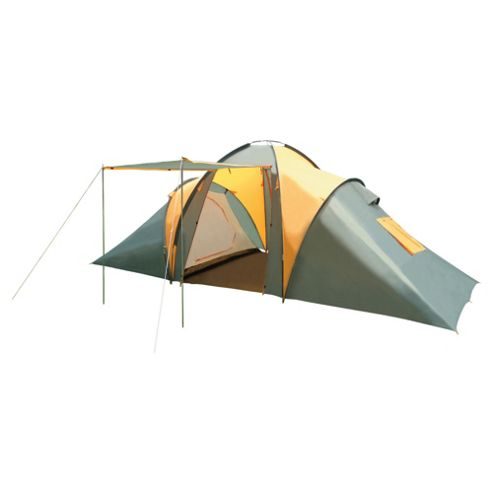 Tesco 6-Man Cross Pole Vis-a-Vis Family Tent