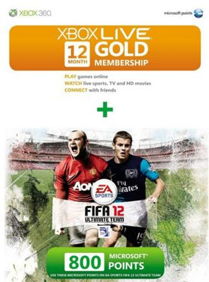Xbox Live - FIFA 12 - 12 Month Gold Card