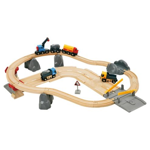Brio Rail and Road Loading Set Wooden Toy