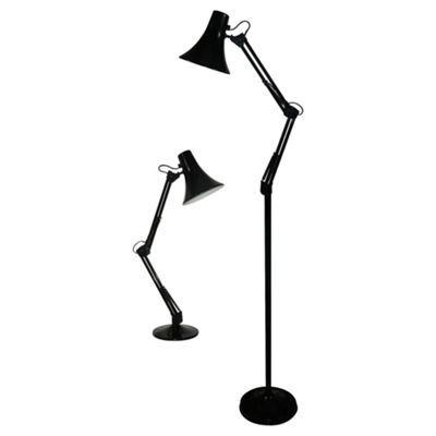 Tesco Lighting Set Of 2, Table And Floor Desk Lamp