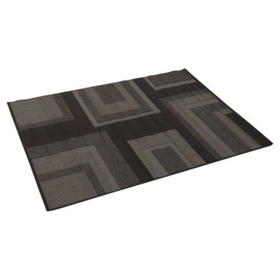 Tesco Rugs Loop And Pile Squares Rug Chocolate 120X170Cm