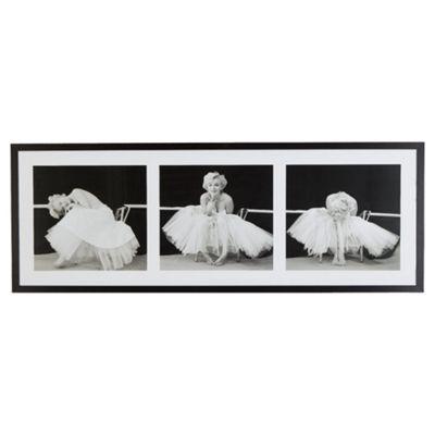 Framed Ballerina Triptych Print