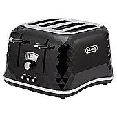 DeLonghi CTJ4003.BK Brillante Designer 4 Slice Toaster - Black