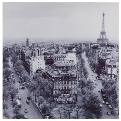 Vintage Paris Canvas, 63x63cm