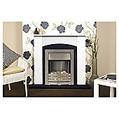 Adam Holden Cream & Black Electric Fireplace Suite