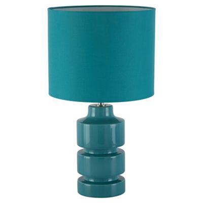 Tesco Lighting Retro Ceramic Table Lamp, Soft Teal