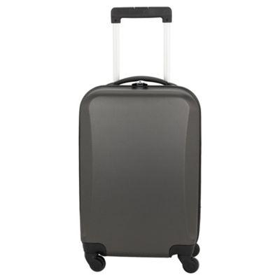 Tesco Hard Shell 4-Wheel Suitcase, Grey Small
