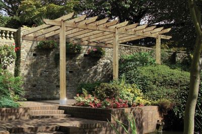 Finsbury Lean-to Pergola includes 3 bags of Postfix for fixing posts into the ground