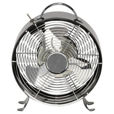 Retro Desk Fan Black