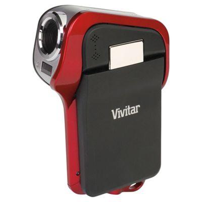 Vivitar DVR995WHD Waterproof Camcorder, Red