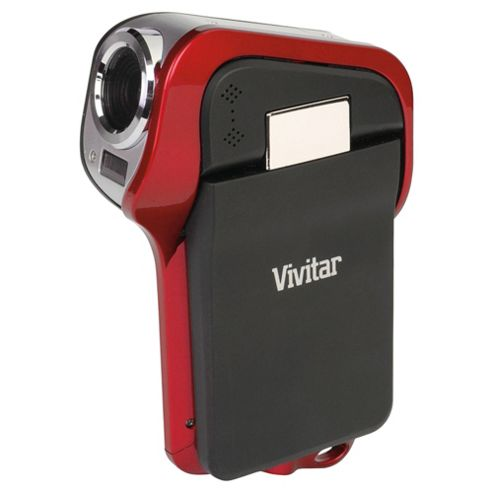 Vivitar DVR995WHD Waterproof Camcorder, Red