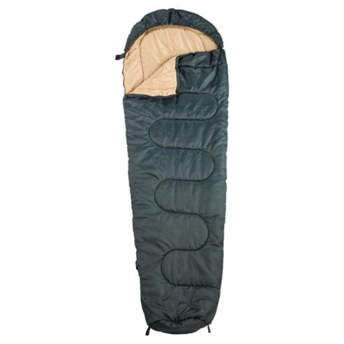 Tesco Everyday Value Mummy Sleeping Bag, Green