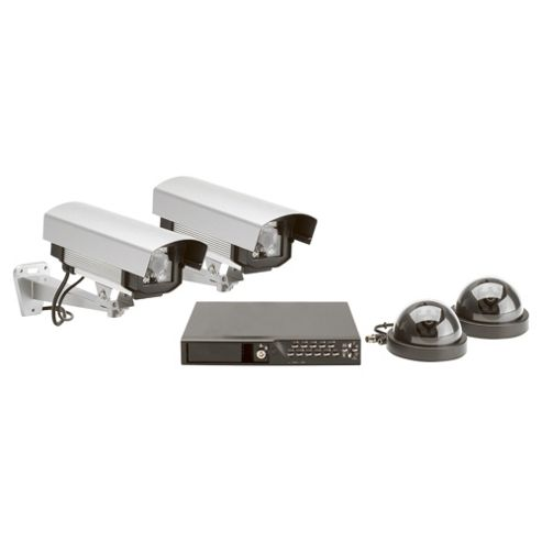 Friedland Response Wired 4 Colour Camera and 4 Channel DVR CCTV Kit