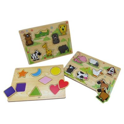 Carousel Wooden Puzzle-Assortment – Colours & Styles May Vary